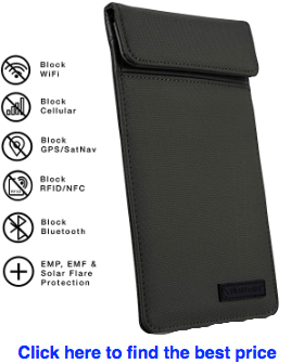 Silent Pocket Faraday Bag Smartphone Sleeve